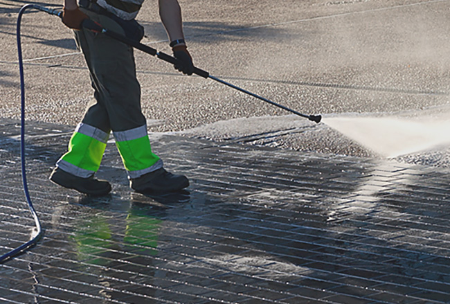 Commercial pressure washing in Calgary - Bristol Window Cleaning